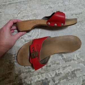 Vintage Wood Sole Classic Sandals